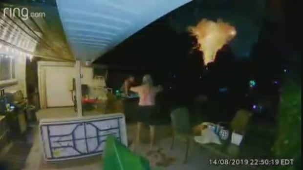 'Like a bomb went off': Backyard video captures moment London house explodes