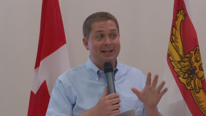 Scheer's plan to repeal carbon tax wins applause from Cornwall crowd