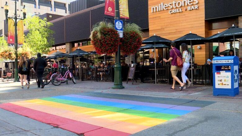 Calgary pride crosswalk vandalized again, police hate crime unit investigating