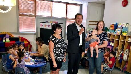 Manitoba NDP Leader Wab Kinew child care promise
