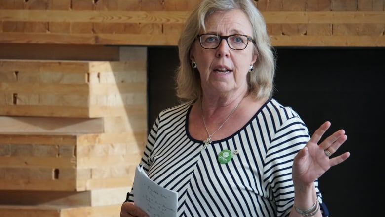 Green Party leader visits Sudbury as October election approaches