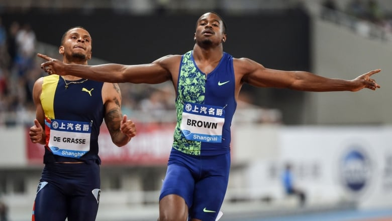 Aaron Brown has emerged from the shadows as Canada's fastest man