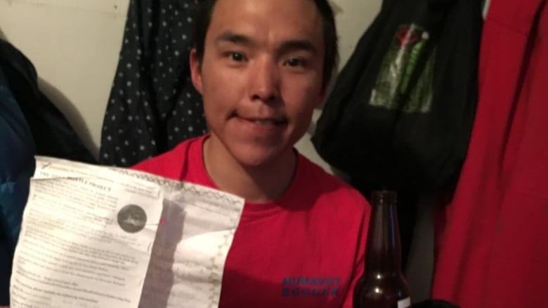 Kugluktuk man finds message in a bottle 9 years after it was sent adrift