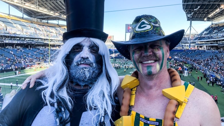 Bombers' blue gives way to green, gold, silver and black at Winnipeg's IG Field