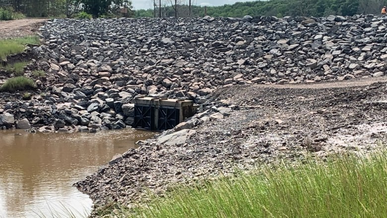 Province's replacement for failed Hantsport aboiteau already eroding