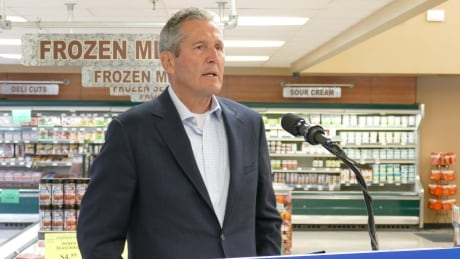 Brian Pallister at PC shopping promise