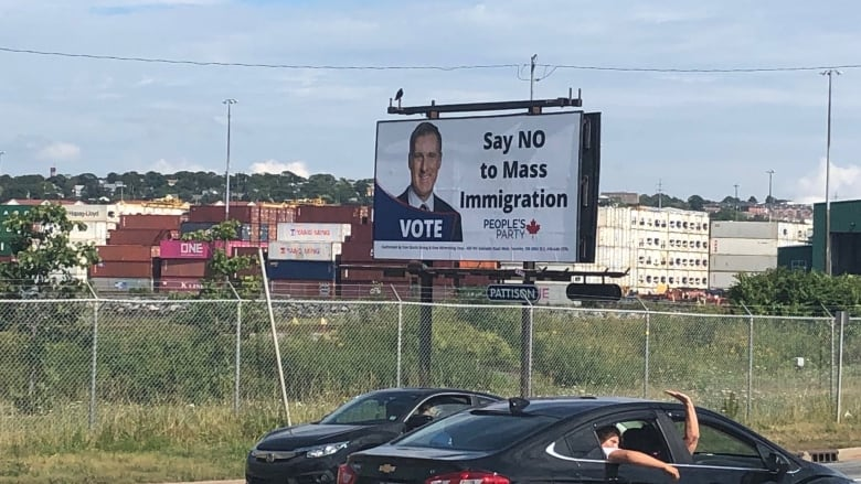 N.S. premier, MP take aim at billboard telling Canadians to 'say no to mass immigration'