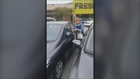 racist rant Richmond parking lot video unblurred