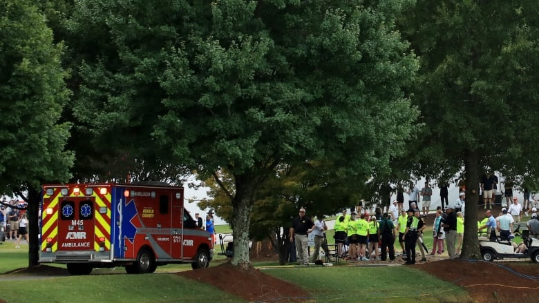 6 injured after lightning strikes tree at Tour Championship