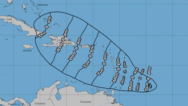 Caribbean countries issue tropical storm warnings as Dorian strengthens, moves west