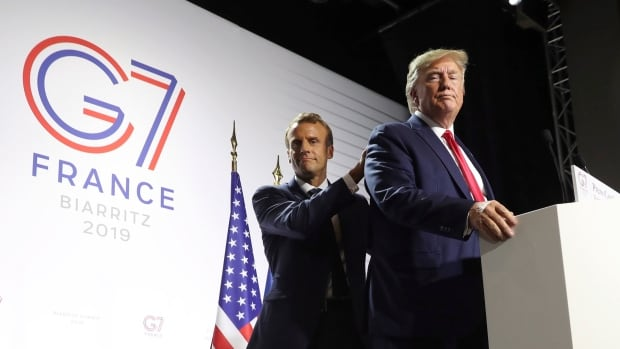 Macron's diplomatic bet pays off as Trump strikes more measured tone on Iran | CBC News
