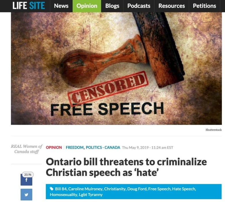 Canada banning Christian demonstrations? How a private member's bill sprouted fake news