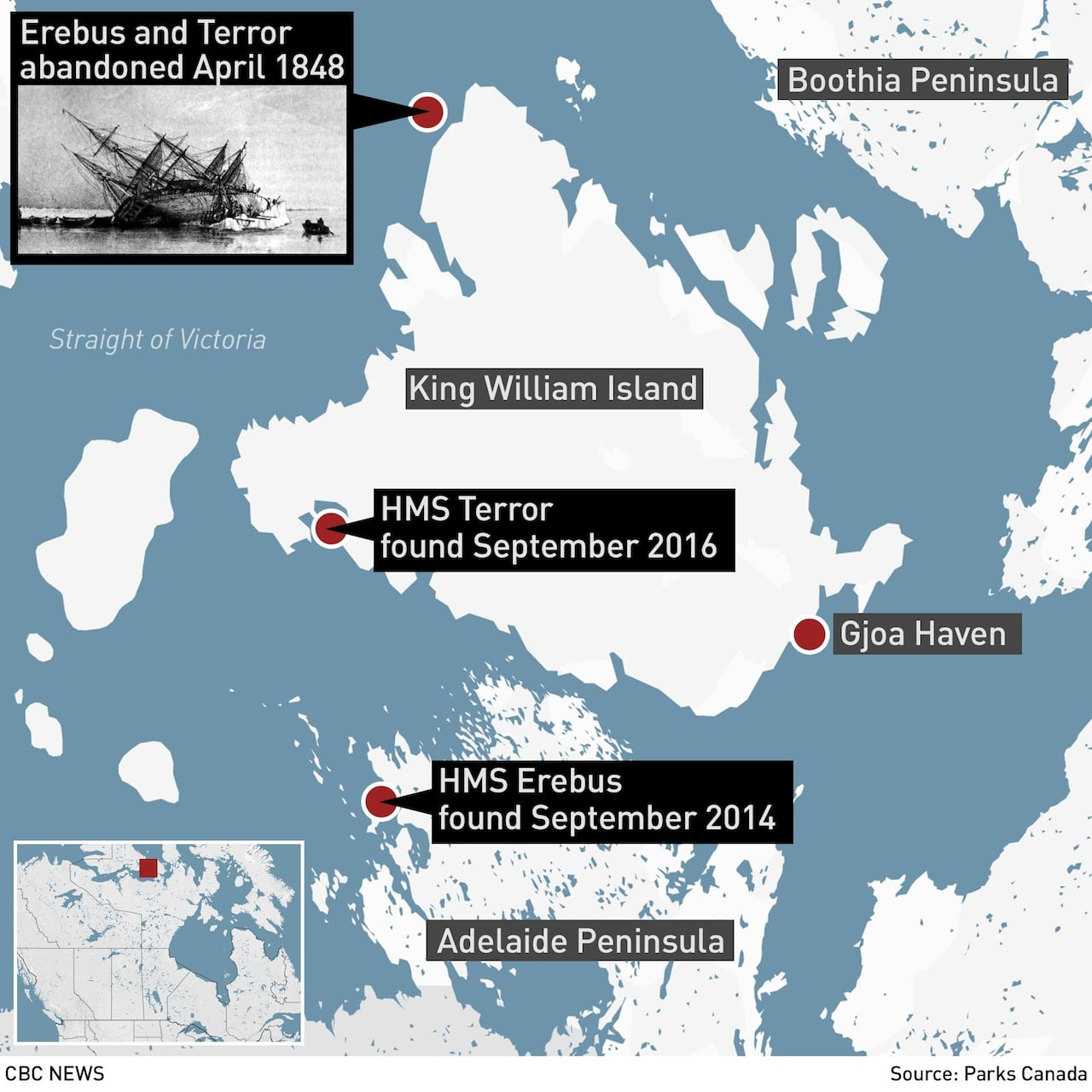 HMS Terror's 'incredible' condition may offer new clues to Franklin Expedition mystery