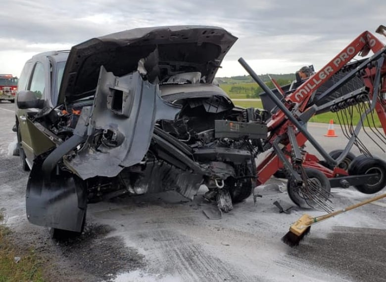 Alberta farmer rear-ended in tractor urges caution in