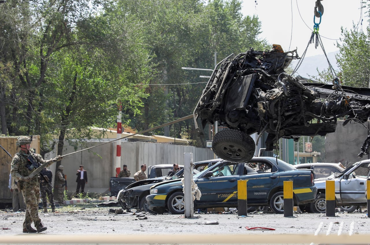 At least 12 killed in Kabul suicide bombing including NATO