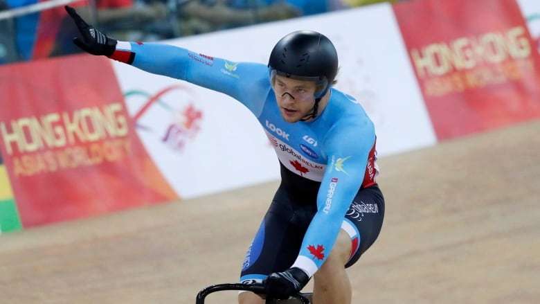 Canadian cyclist Hugo Barrette involved in crash at Pan Am track championships