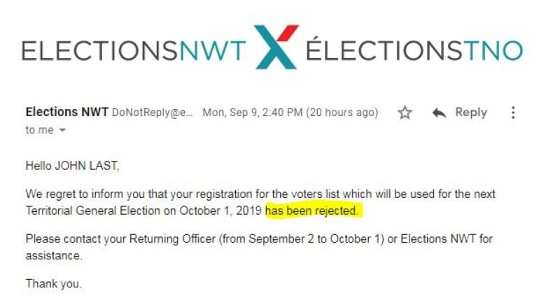 I got my online ballot, then my registration was rejected