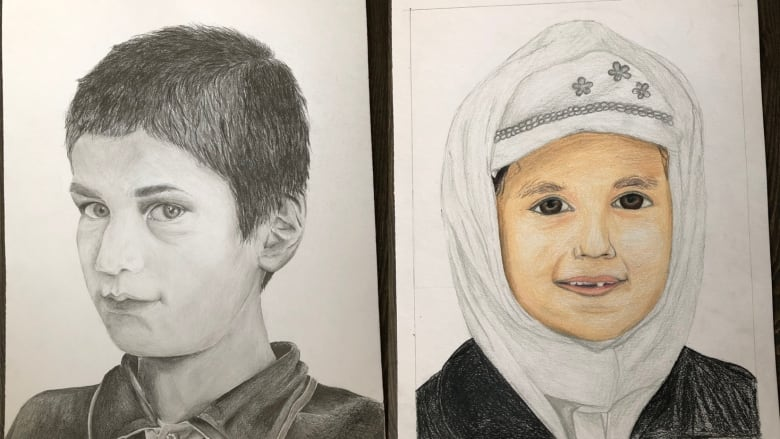 Portrait project connects young artists to kids in refugee camps