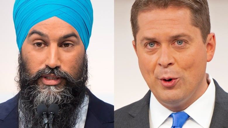 Scheer, Singh make confident pitch to voters as polls move to favour Conservatives