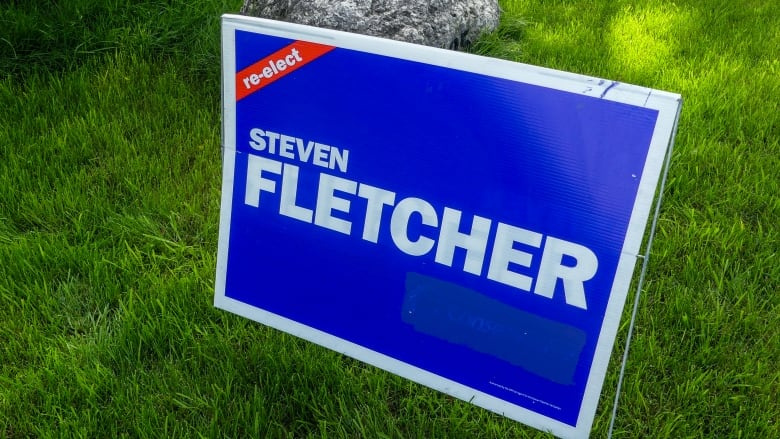 PPC candidate Steven Fletcher reusing old Conservative campaign signs while running under new banner