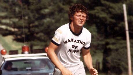 Terry Fox on his cross-Canada Marathon of Hope