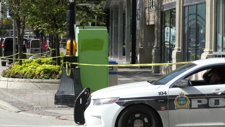 Police investigating bloody incident at downtown apartment building