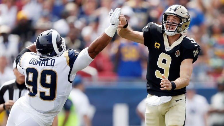 Brees injured as Rams beat Saints in title game rematch