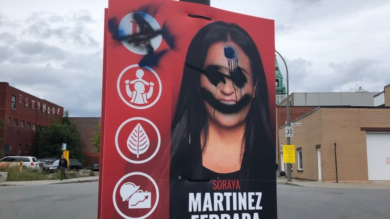Liberal campaign files police complaint after Montreal signs vandalized with swastikas