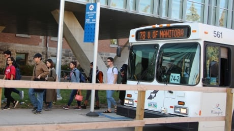 University of Manitoba, Winnipeg Transit bus on campus