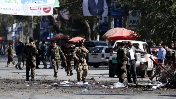 2 suicide bombings, including at presidential election rally, kill 46 in Afghanistan | CBC News