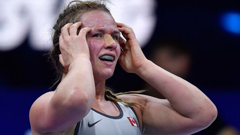 Canada's Erica Wiebe reeling after last-second quarter-final loss at wrestling worlds