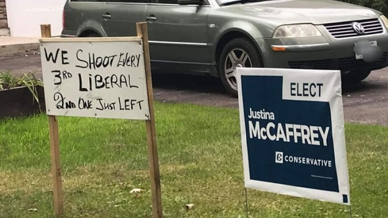Ottawa candidates denounce sign threatening violence against Liberals