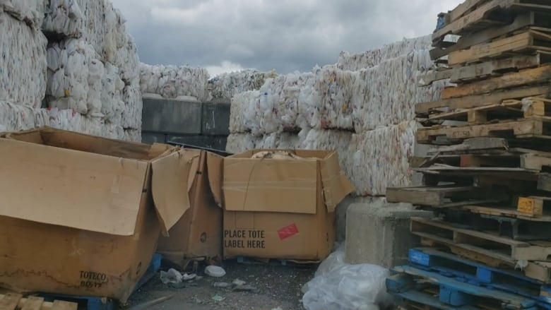 'It's deceiving Canadians': Hidden trackers reveal plastic recycling dumped in Canadian landfill