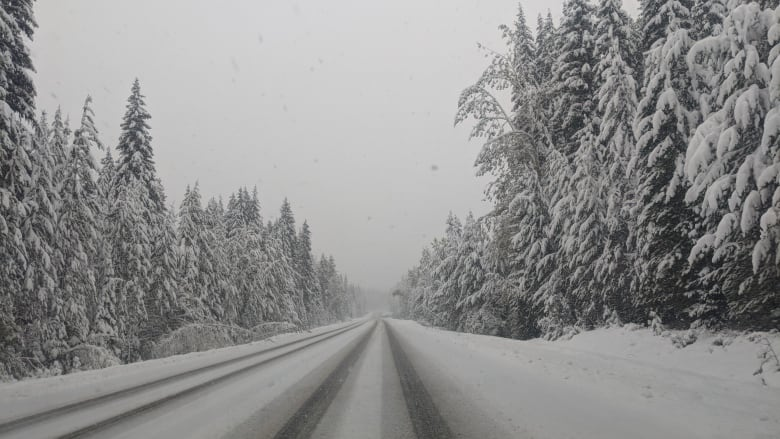 Winter arrives on B.C. highways with snowfall warnings