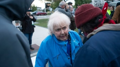 Elderly couple blocked from entry