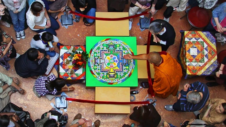 Monks come to Calgary and create artwork that promotes peace and love