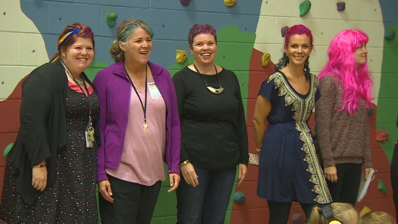 P.E.I. teachers, staff get neon hairdos after students