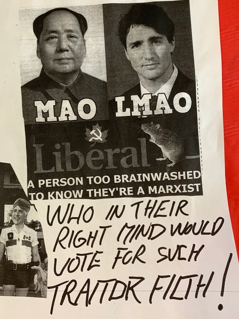 Fort McMurray Liberal candidate's campaign office vandalized with 'threatening' posters