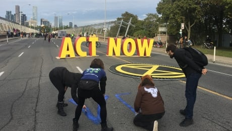 Toronto Extinction Rebellion Bloor Viaduct Protest