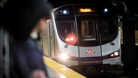 TTC Subway -Train Approaching Station