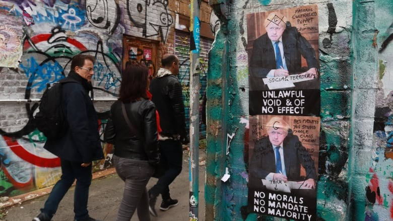 How anti-Brexit street art in London's east end is sparking conversation — on walls
