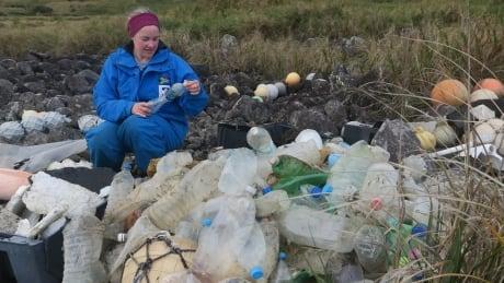 Bottles washed ashore