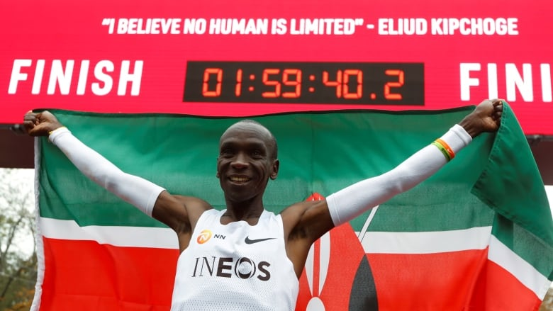 Kenyan Eliud Kipchoge runs marathon in under 2 hours
