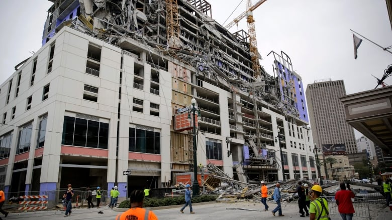 1 dead, 2 still missing in New Orleans hotel collapse