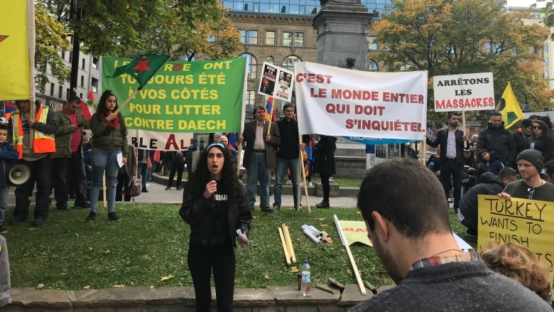 'We're literally just watching people die': Montreal Kurdish community demands government action