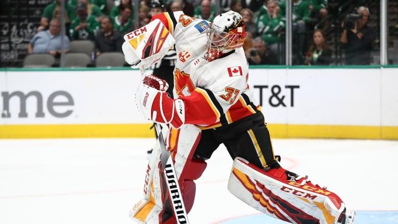 David Rittich's bizarre pre-game rituals working so far for Flames' No. 1 goalie