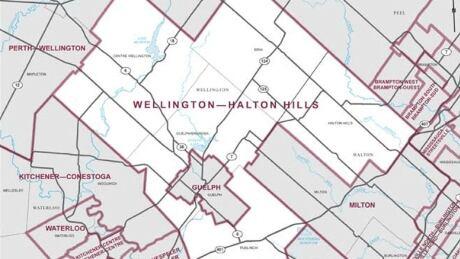 Wellington-Halton Hills federal riding map 2019 elections canada