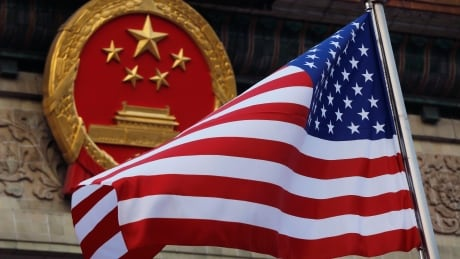 China U.S. flag