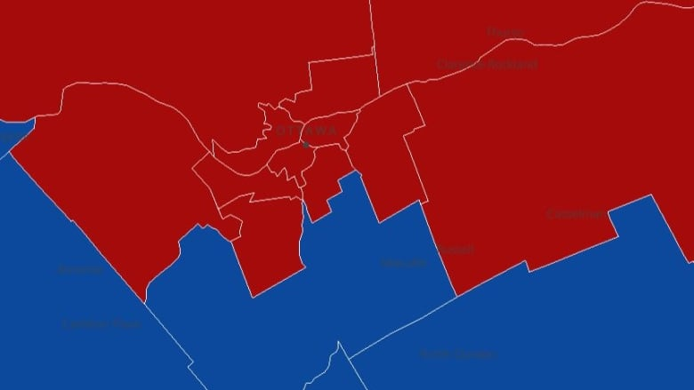 Election results in the Ottawa-Gatineau area