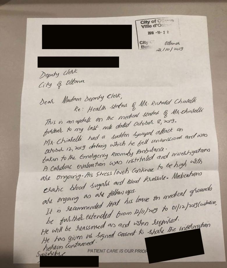 Chiarelli's leave request denied